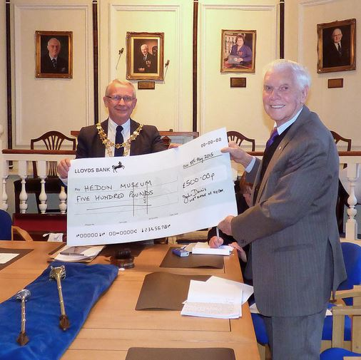 Hedon Museum Society Cheque Presentation