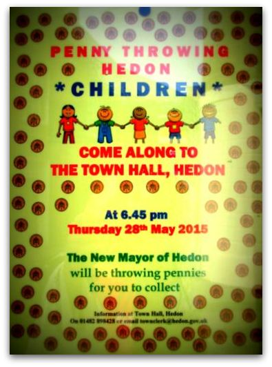 Hedon Penny Throwing poster 2015