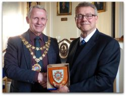 Hedon Shield to Martin Cooper on his retirement as Head Teacher at SHTC
