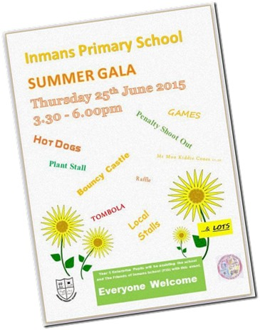 Inmans Primary School Gala Poster