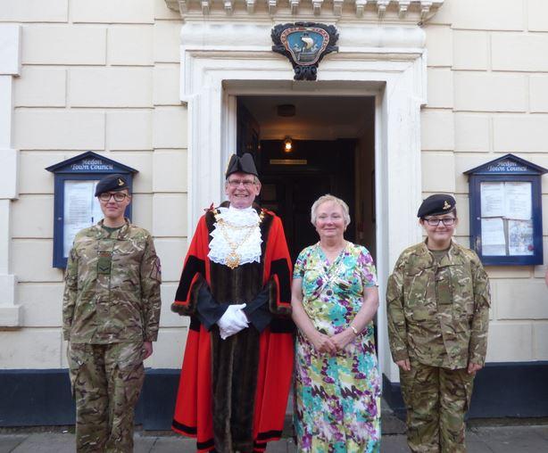 Mayor Mayoress and Cadets