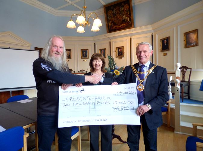 Prostate Cancer UK cheque presentation wide