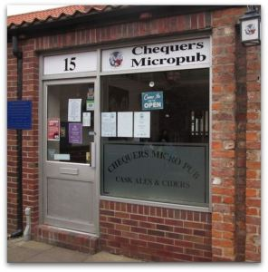Chequers Micropub in Swaby's Yard, Beverley