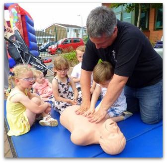 James shown how even little hands can save a life!