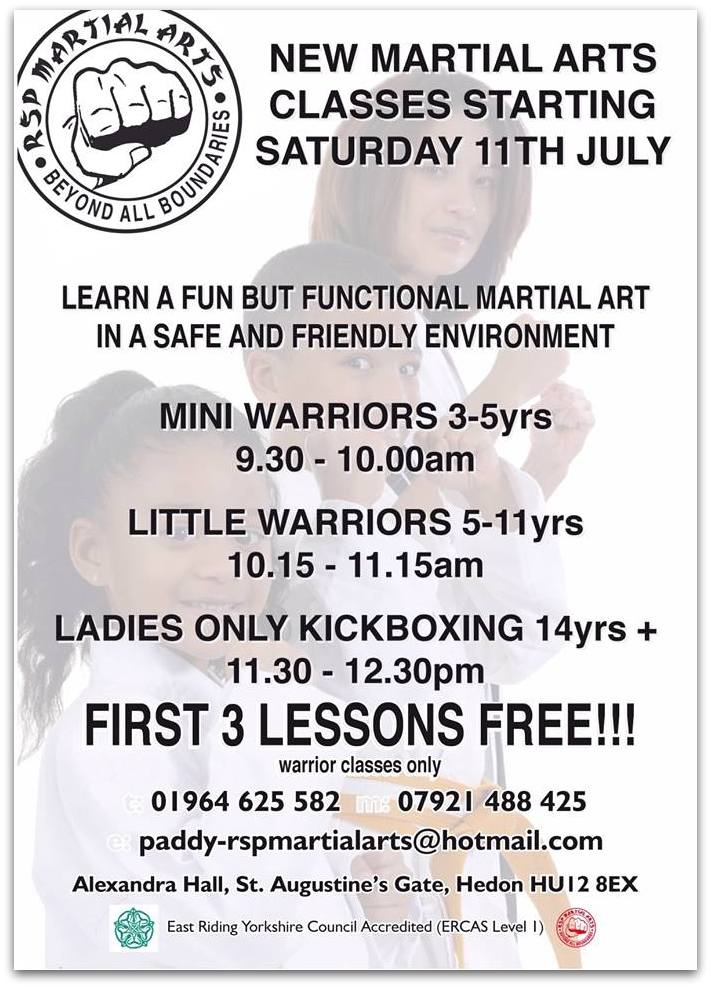 New RSP Martial Arts Classes