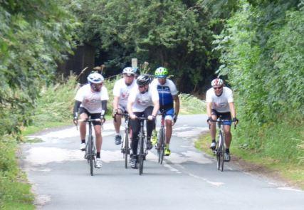 Cyclists head towards finish