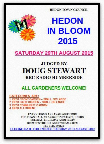 Hedon in Bloom poster 2015