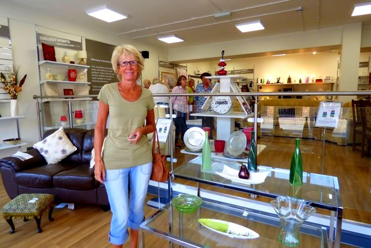 Susannah Stansfield - shop's very first customer