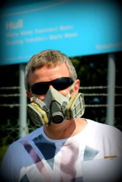 Colin with stench mask