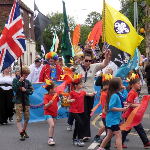 Flags on parade
