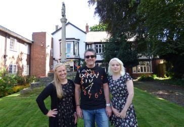 Holyrood House garden party and Kilnsea Cross