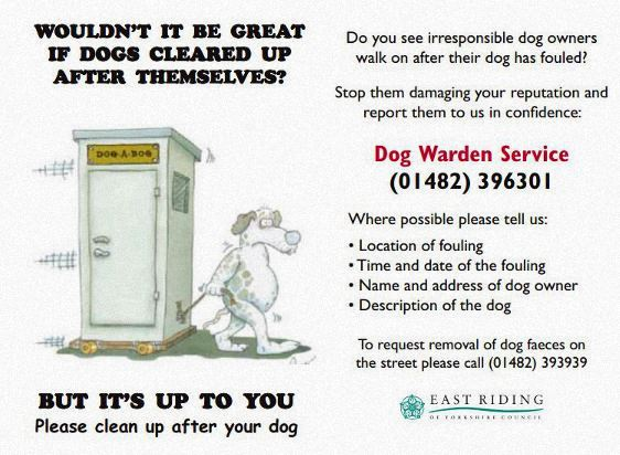 Dog warden leaflet