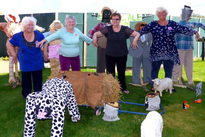 Emmerdale Farm scarecrows and makers