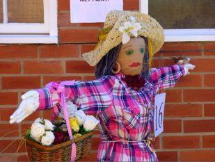 Flowergirl scarecrow