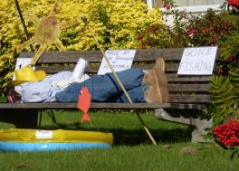 Gone fishing scarecrow