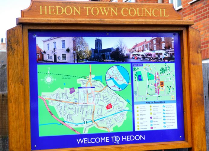 Hedon Town Council Noticeboard car park