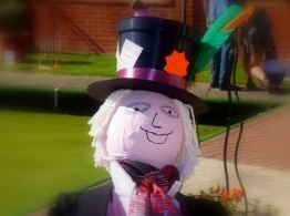Mad Hatter scarecrow