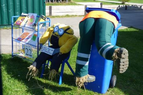 Recycling at school scarecrow