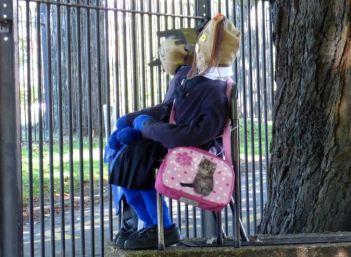 School scarecrows bars