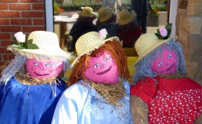 Magdalen Park Nursing Home with Ladies Enjoying Sunshine