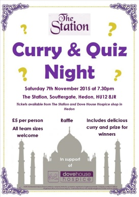 Curry + Quiz poster