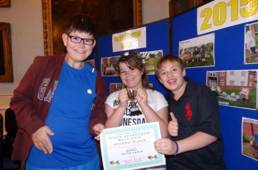 Josh and Jessica Bucknall and Ethan Podmore of Hedon Youth Club