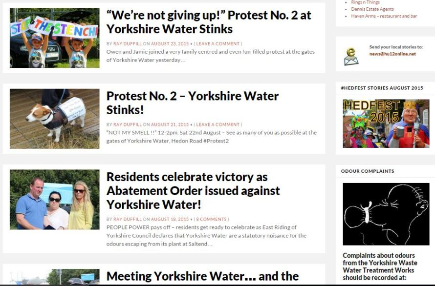 Yorkshire Water Smells news