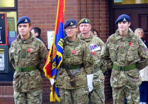 At ease - Cadet colours