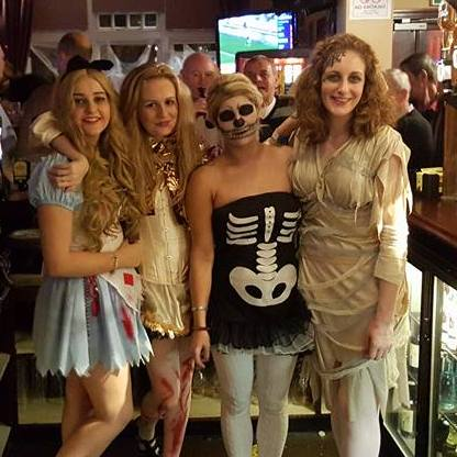 Queen's Head Halloween staff