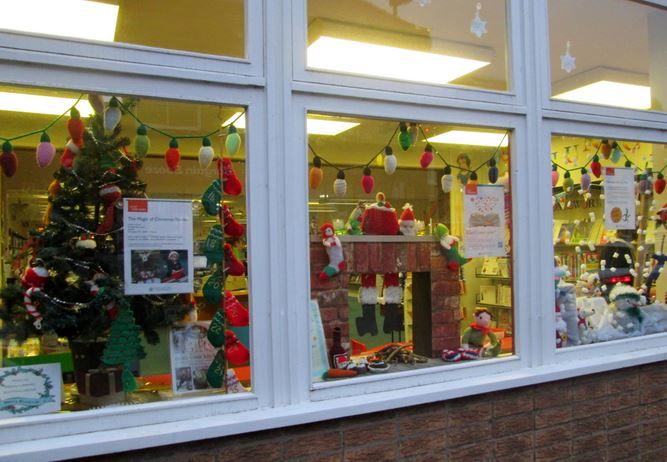 Hedon Library window display