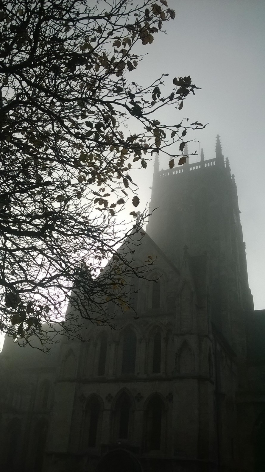 Foggy churc