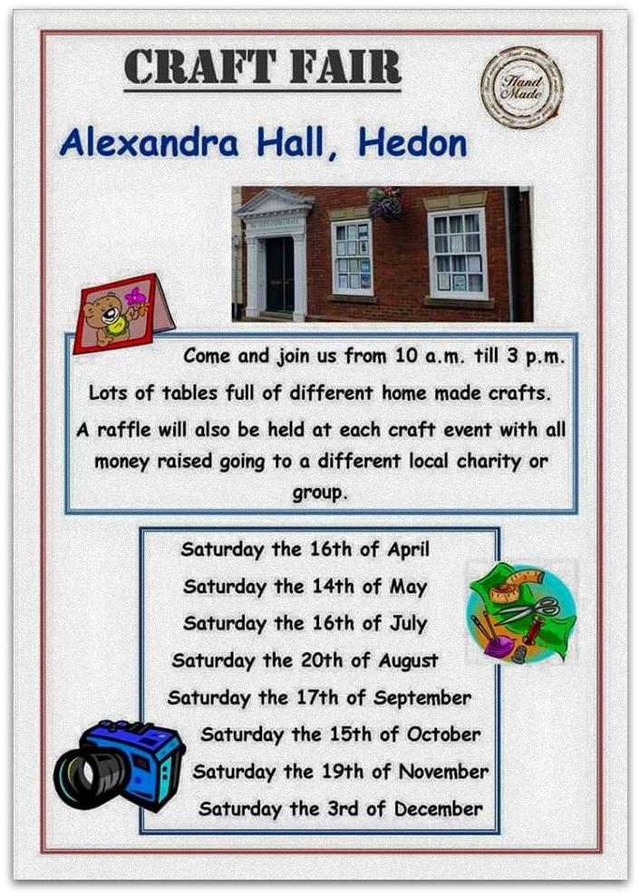 Hedon Craft Fairs 2016