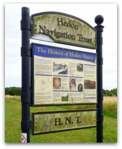 Hedon Navigation Trust sign