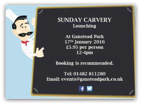 Sunday Carvery Launch