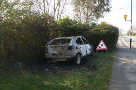 Car after blaze