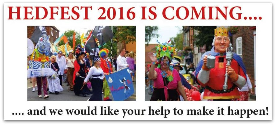 Hedfest volunteer masthead