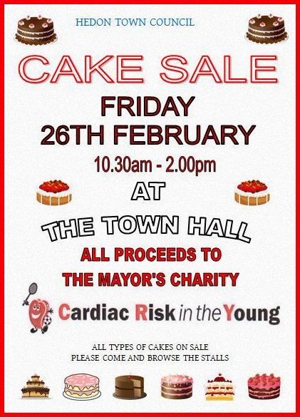 Mayor Cake Sale