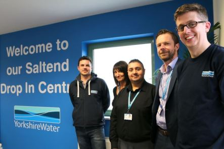 YW staff in drop in centre
