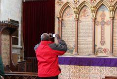 Archbishop taking photo Hedon Church