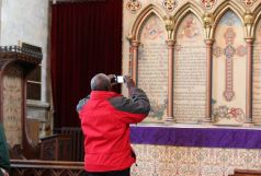 Archbishop taking photo Hedon Church
