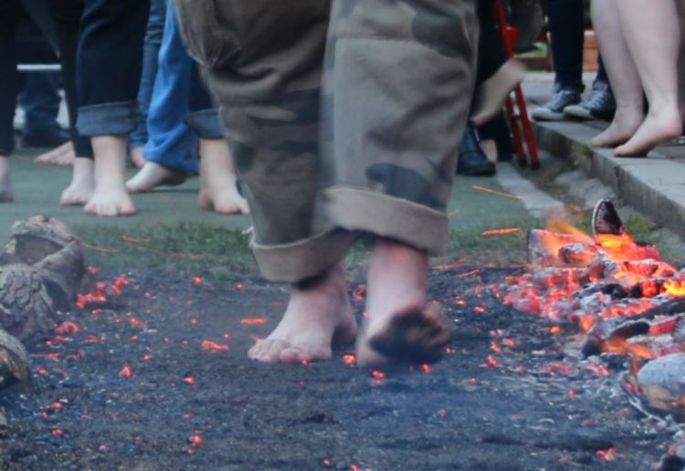barefoot hot embers