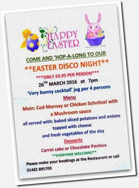 Easter Disco Holderness Grange