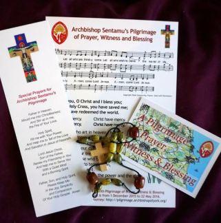 Pilgrimage bookmark and prayer sheet