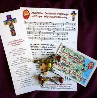 Pilgrimage bookmark and prayer sheet