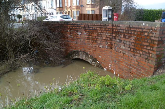 Westlands Drain water high March 4th 2
