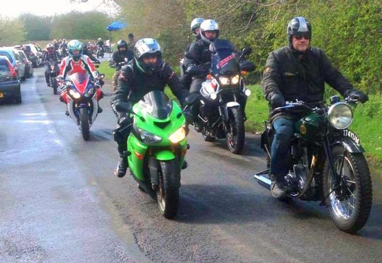 Bikers Leaving Haven
