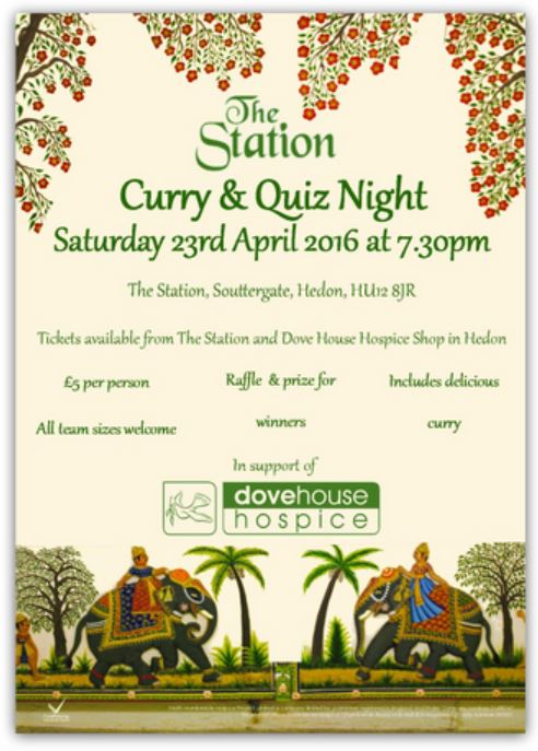 Curry and Quiz Night Poster snip