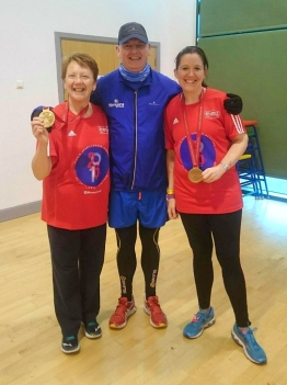 Pat and Tina with medals 2