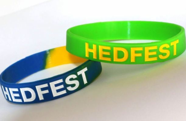 First look at the new HedFest wrristbands