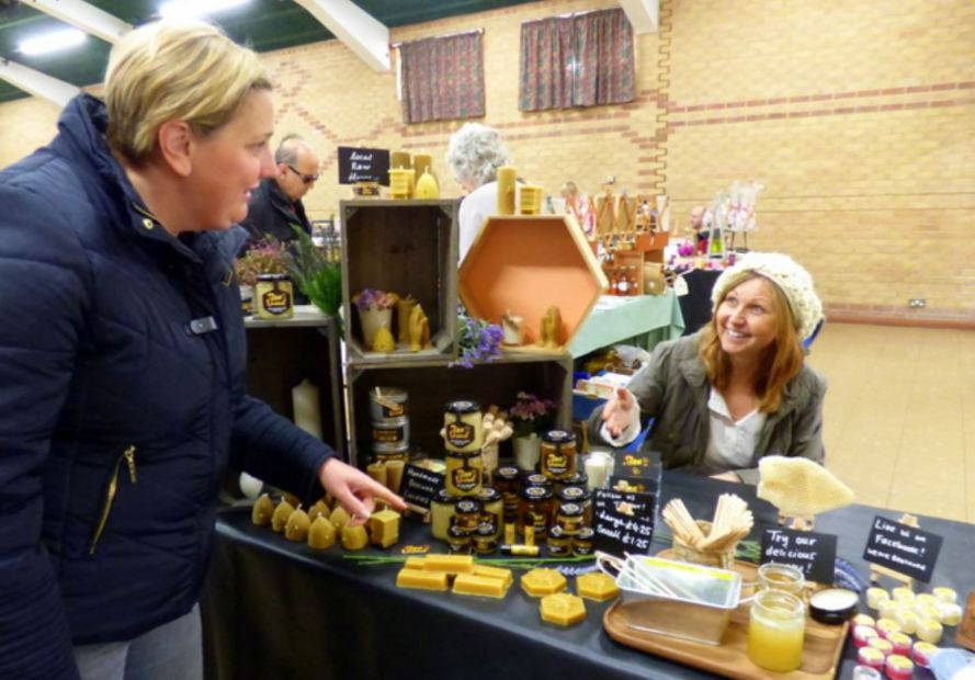 Beeloved stall at Hedon Craft Fair